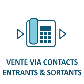 Vente via contacts entrants & sortants